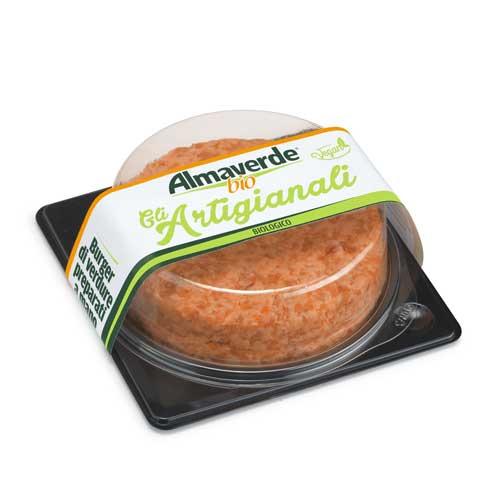 burger di verdure arancio Almaverde Bio